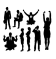 Businessman and businesswoman silhouettes vector image vector image
