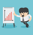 Businessman Presenting Growth Chart vector image