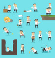 businessmen in business failure situations vector image