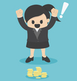 businessWoman see found Money vector image vector image