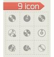 cd icon set vector image vector image