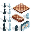 chess board game strategical tactical vector image