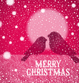 Christmas hand drawn bullfinches vector image vector image