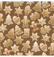 Christmas sweet pattern vector image