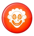 Clown icon flat style vector image vector image