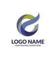 creative modern elegant letter e logo concept vector image vector image