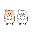 cute red eyes hamster vector image vector image