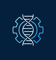 dna in cogwheel colored icon or logo in vector image