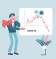 economy falling financial crisis and stock price vector image