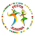 Festa Junina dancers man and woman vector image