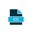 file ico icon colored symbol premium quality vector image