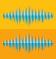 Flat stereo music wave icon vector image vector image