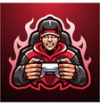gamers esport mascot logo vector image
