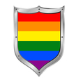 Gay flag button vector image vector image