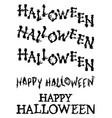 halloween spooky and scrabble tiles set vector image vector image