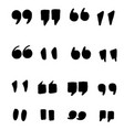 hand drawn quotes icons quote marks comma speech vector image vector image