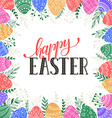 Happy easter wreath vector image vector image