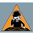 Hipster DJ vector image vector image