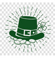 icon patricks day silhouette vector image vector image