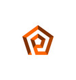 initial letter p logo template with pentagonal vector image vector image