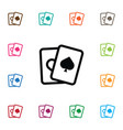 isolated spades icon ace element can be vector image vector image