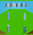 isometric building set of residential skyscraper vector image vector image
