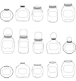 Jars set jar with label silhouettes vector image vector image