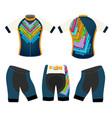 joyful cycling clothing vector image vector image