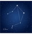 Libra constellation zodiac vector image vector image