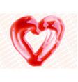 Lip Gloss heart shaped vector image vector image