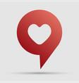 love element heart navigation label symbol vector image