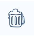 Mug of beer sketch icon vector image vector image