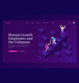 mutual growth and assistance employees and company vector image vector image