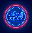 neon sexy girl signboard vector image vector image