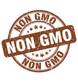 non gmo brown grunge round vintage rubber stamp vector image vector image