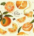 orange tea seamless pattern vector image vector image