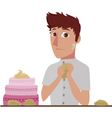 pastry chef vector image vector image