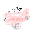 pink blush girl power vector image vector image