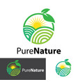 pure nature logo design vector image vector image