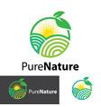 pure nature logo design vector image vector image