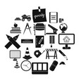range icons set simple style vector image