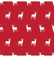 red deer minimalistic silhouette seamless pattern vector image