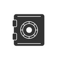 safe black icon vector image