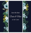 Save the date flower decoration card vector image vector image