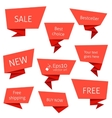 set flat speech bubbles vector image vector image