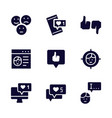 set icon social networks in flat style vector image vector image