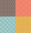set nine seamless geometrical patterns vintage vector image vector image
