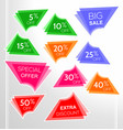 set of colorful abstract sale stickers vector image vector image