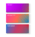 set of colorful banners set of different bright vector image vector image