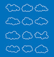 set of various clouds vector image